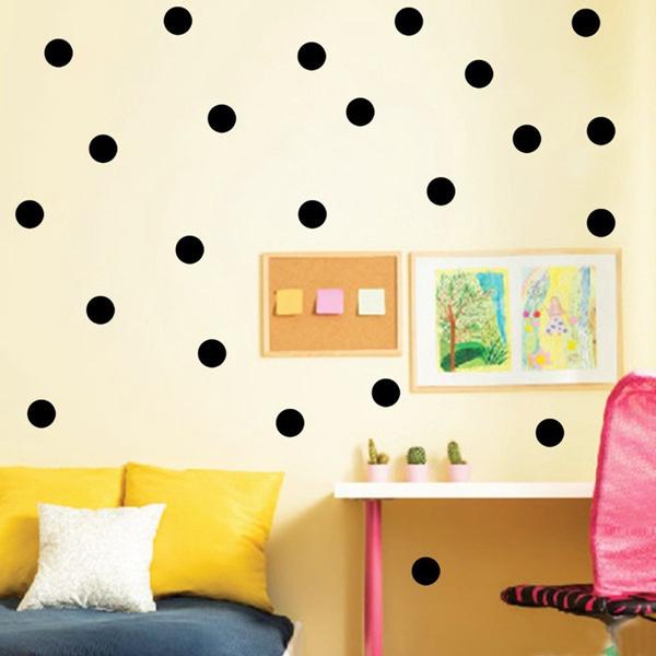 Wish   54pcs Polka Dot Wall Stickers Child Kids Vinyl Art Decor ...