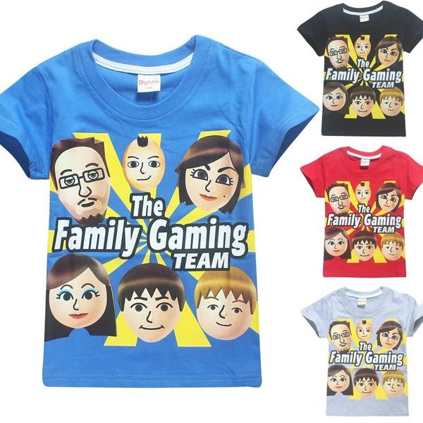 Roblox Fgteev The Family Game Print T Shirt Boys And Girls Fashion