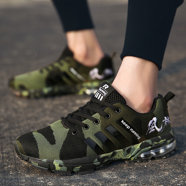 9e3681e8403d3 New Fashion Camouflage Couple Shoes Men's Women Mesh Sports Shoes ...