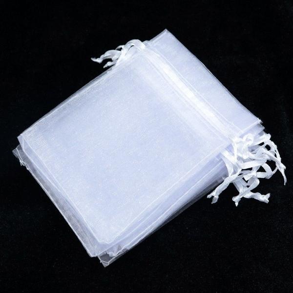 Wish 100pcs 7x9cm 9x12cm 13x18cm Organza Gift Bags Jewelry Candy Bag Wedding Favors Mesh Pouches