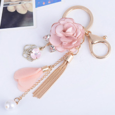 Tassels, Flowers, Key Chain, Chain