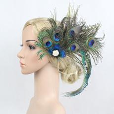peacock, Cosplay, Hair Clip, flapperheadband