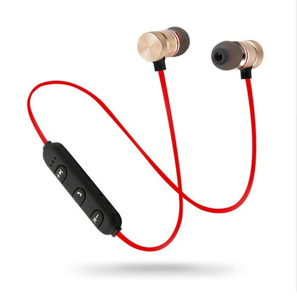 Metal Sports Wireless Headphones Bluetooth Earphone Sweat Proof Earphone Magnetic Earpiece Stereo Headset For Mobile Phone Wish