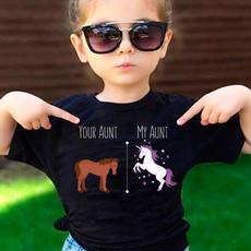 Summer, horse, Funny T Shirt, kids clothes