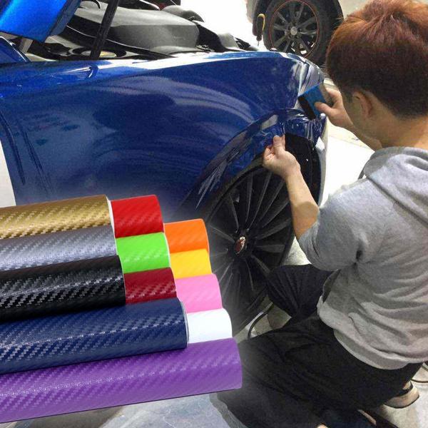 1270mm X 300mm Waterproof 3D Carbon Fiber DIY Car Sticker Car Styling Car  Carbon Fiber Vinyl Wrapping Film Car Accessories Decals Autocollant de