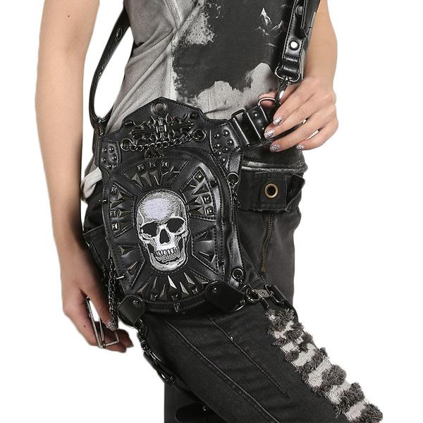 Vintage Fashion Skull Shoulder Bags Women Casual Shoulder Messenger Bag