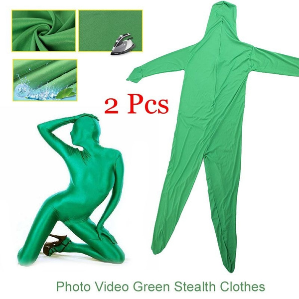 Photographic Video Work Stealth Special Eeffects Green Screen Suit Stage  Prop Curtain Clothing Skin Suit For Photo or Video Special Effects