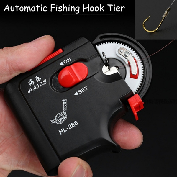 Fishing Hook Line Tier Electric Tie Automatic Auto Hook Tie Machine Line