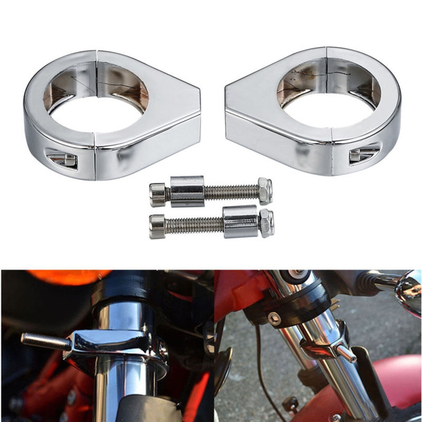 Motorcycle Turn Signal Clamps for Harley Softail Mount Bracket 41Mm Fork Chrome