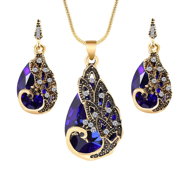 peacock, gold, Rhinestone, Earring