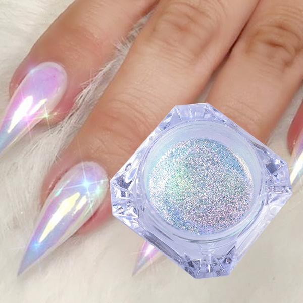 1Box Chameleon Unicorn Neon Nail Powder 0.2g Magic Mirror Mermaid ...