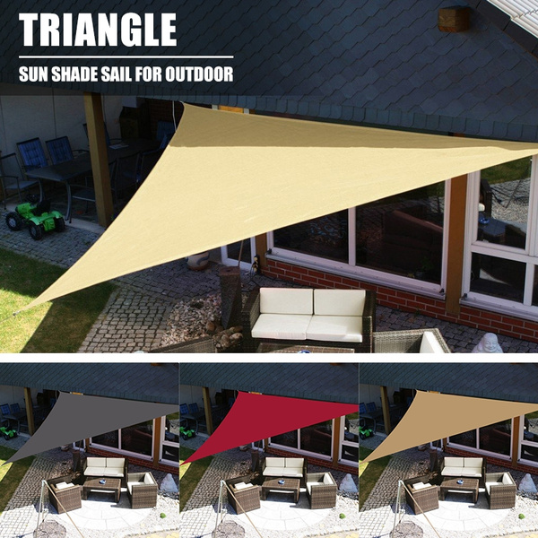Enhanced Triangle Sun Shade Sail Garden Patio Lawn Swimming Pool Cover  Awning Canopy Sunscreen UV Outdoor Shades (5 colors)