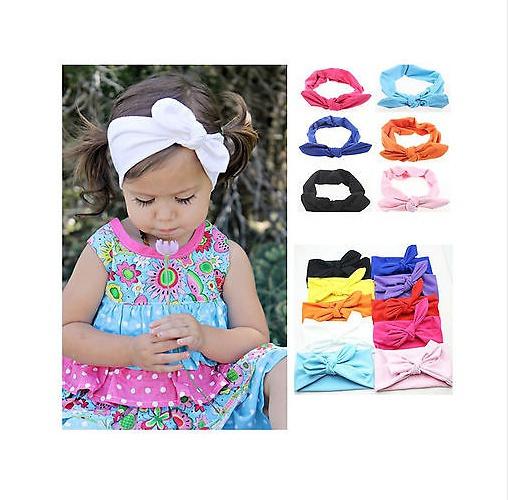Girls Kids Baby Toddler Turban Knot Rabbit Headband Bow Hairband Head Bands