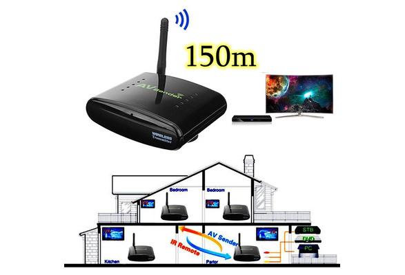 150m Pat 330 2 4g Wireless Av Audio And Video Sender Transmitter And