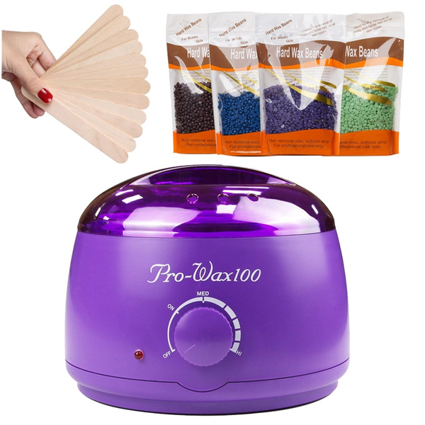 Hair Removal Hot Wax Warmer Waxing Kit Wax Melts 50g Hard Wax