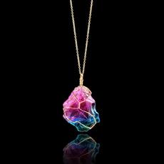 rainbow, Stone, quartz, Natural