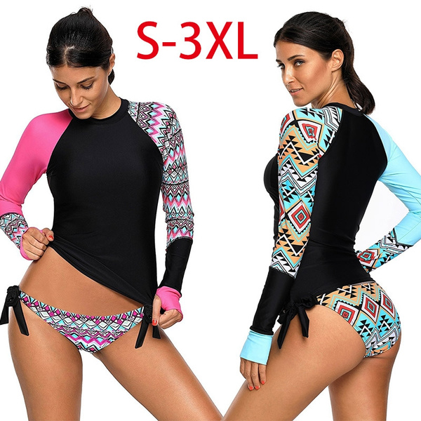117cf6fef9 It also comes with padded cups that it can enhance your beautiful curves.  Ready the different but compelling vision when you wear this UPF 50+ rash  guard.