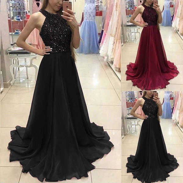 937efb5a63e Fashion Women Ladies New Lace Evening Party Ball Prom Gown Wedding ...
