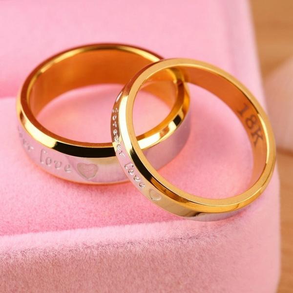 foreverlovering, Couple Rings, wedding ring, Steel