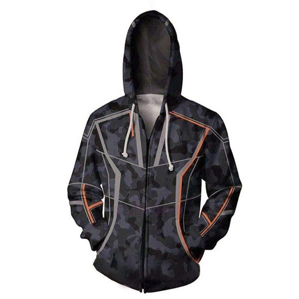 Marvel Avengers Superhero iron Man Tony Stark Hoodie Sweatshirt Cos Coat Jacket