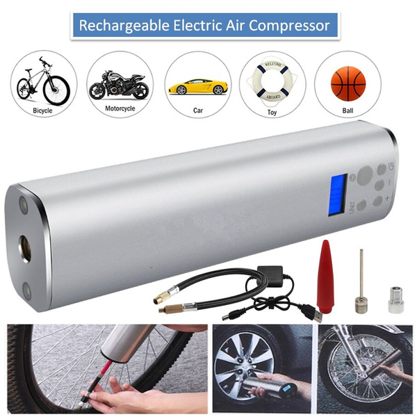 Inflatable Pump Back To Search Resultsautomobiles & Motorcycles Portable Handled Digital Air Compressor Pump Usb Rechargable Car Air Compressor