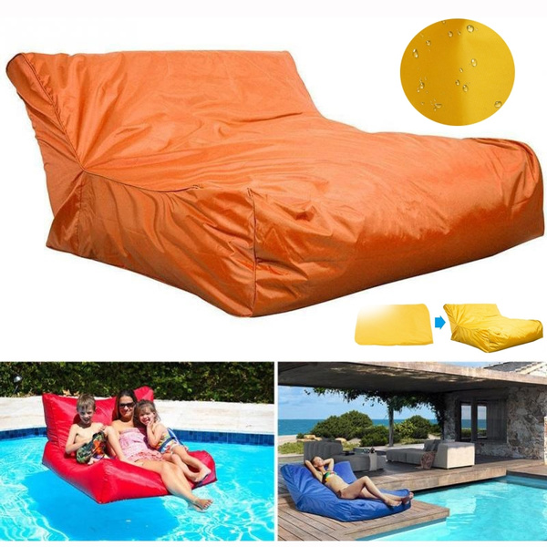 Miraculous Swimming Pool Floating Bean Bag Cover Waterproof Soft Lounge Chair Sofa Unemploymentrelief Wooden Chair Designs For Living Room Unemploymentrelieforg