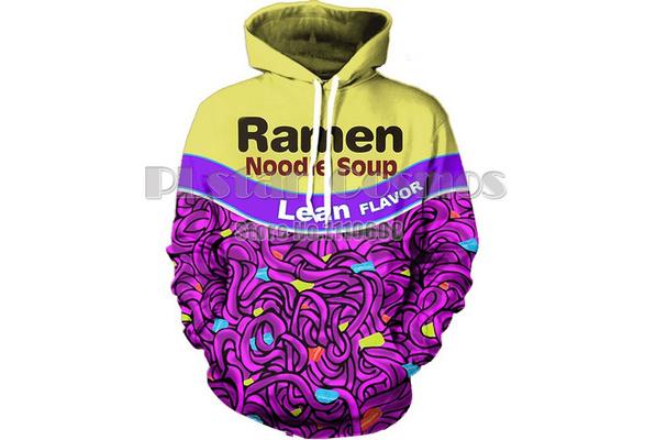 Wish Lean Flavor Ramen Noodle Soup Hooded Sweatshirt Jacket