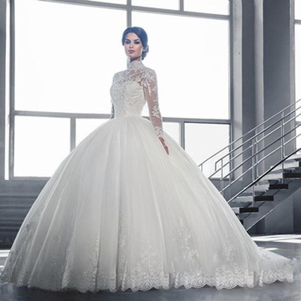 2018 Women Wedding Dress Korean Brief Bride Marriage One Word ...