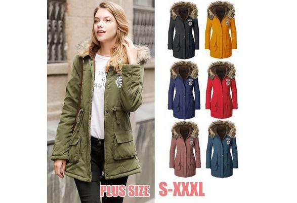 2018 Plus Size Winter Jacket Women Wadded Jacket Female Outerwear Slim Winter Hooded Coat Long Cotton Padded Fur Collar Parkas