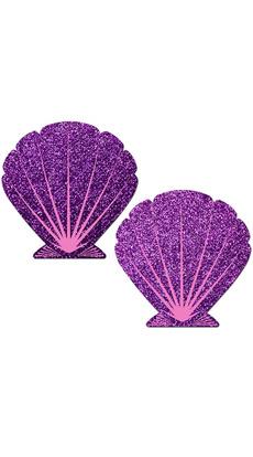 purple, seashell, pink, Glitter