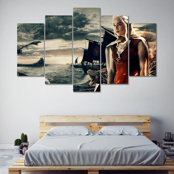 Game Of Thrones Dragon Canvas Framed Print Wall Art ~ More Size
