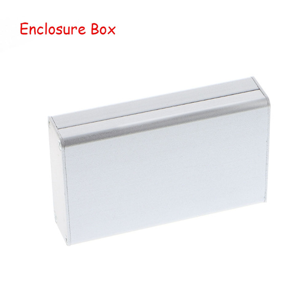 Connectors Black Aluminum Pcb Instrument Box Extruded Enclosure Diy Electronic Project Case 80x50x20mm