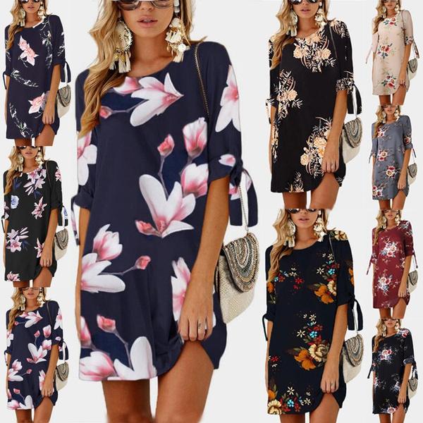 Summer, Floral print, femaleclothe, Sleeve