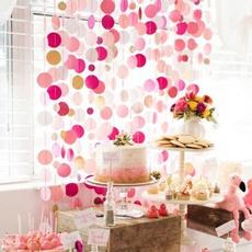 Decor, pinkpapergarland, glitterpaper, birthdaygarland