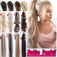 brown, ponytailhair, Fashion, Hair Extensions