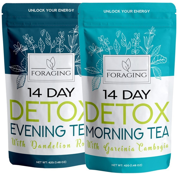 Foraging Detox Tea 14 Day And Night Teatox 28 Tea Bags With