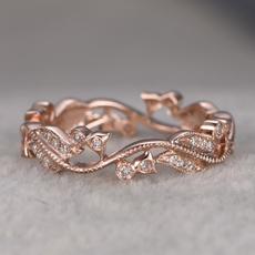 Flowers, leaf, wedding ring, gold