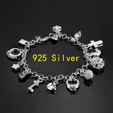 Sterling, Crystal Bracelet, Fashion, Star