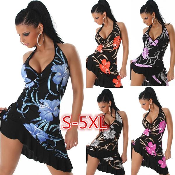 Mini, Plus Size, ruffle, Dress