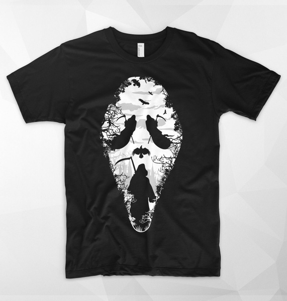 Halloween outfit Funny graphic T-shirt REAPER SCREAM horror movie