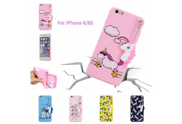 Fashion 3D Cute Unicorn Jewelry Mobile Phone Shell High Quality TPU Shock Protection Shell For IPhone X SE 5 5s 6 6plus 6s 6splus 7 7plus 8 8plus/Samsung Galaxy S7 S7Edge S8 S8Plus S9 S9Plus/Note8/A3 A5 2017/A8 A8Plus 2018/J3 J5 J7 2017/Huawei P8Lite2017 P10 P10Lite