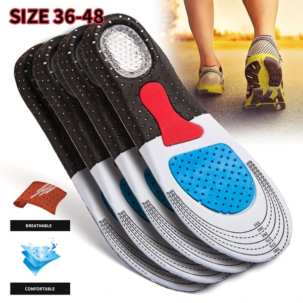 sport support cushion gel orthotic sport running insole insert shoepad arch new.