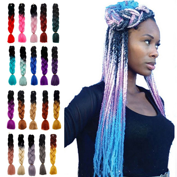 100g Piece 24 Inch Box Braids Synthetic