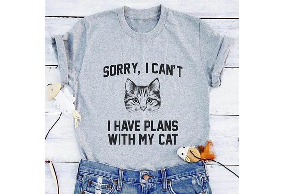 Cute Summer Fashion Women Harajuku Tumblr Cat Print Meow Shirt Short Sleeves Tee Shirt Tops O Enck Casual Cotton  Funny T Shirt Blouse