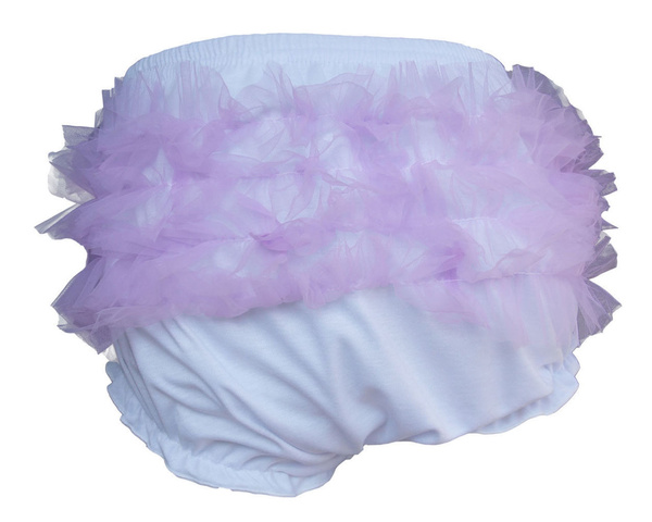 Baby Toddler Girl/'s Lavender Cotton Chiffon Ruffle Panty Bloomers Diaper Covers