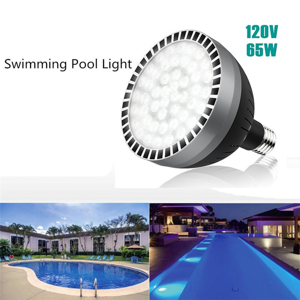 Black 120V 65W Underwater Swimming Pool LED Light Bulb for Pentair Hayward  Fixture