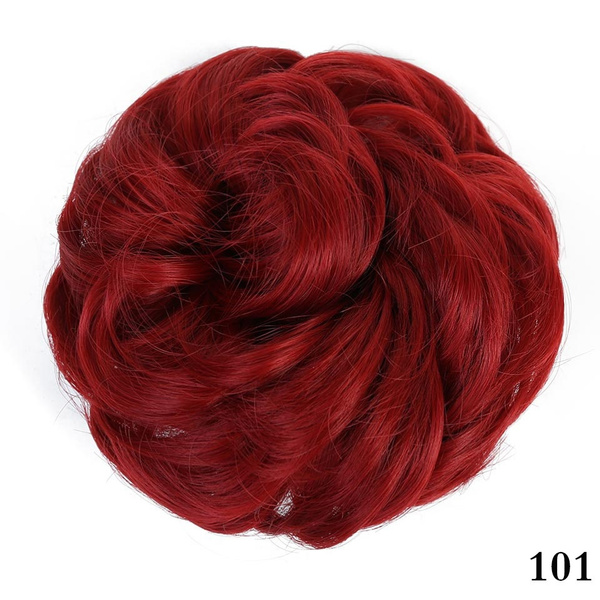 Wish Difei Heat Resistant Synthetic Hair Elastic Chignon Hairpiece