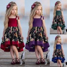 gowns, girls dress, Cotton, Summer