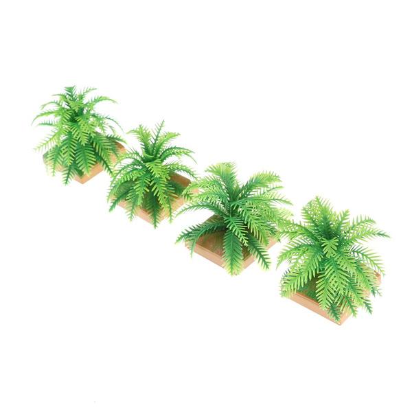 2x Miniature Plant Model 6CM Simulation Imitative Tree Shrub Building Model FEH