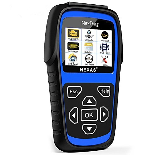Diagnostic Scanner NEXAS ND601 Diagnose ABS / SRS / EPB Fault Codes Reader,  Reset SAS / Oil Service Light Multi-System OBD2 Scan Tool with DPF Regen